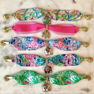 Jewelry - Lilly Pulitzer inspired ribbon bracelets